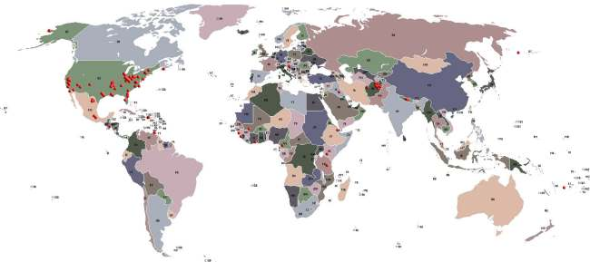 Pollution Control Systems Worldwide Map